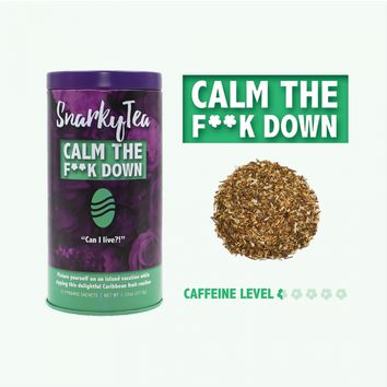 Snarky Tea - Calm The Fuck Down Tea - 15 Pyramid Sachets