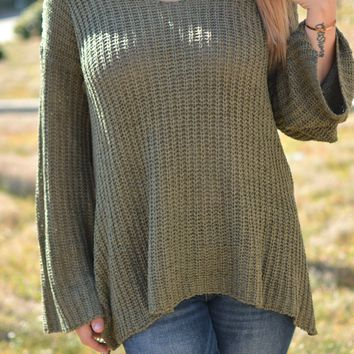 Sudden Chill Sweater - Olive