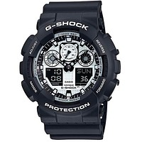 Casio G-Shock Mens Watch - Black Case and Strap - Stopwatch -  World Time