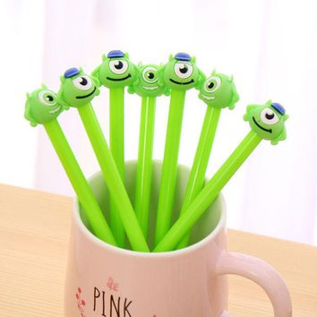 DCCKL72 1 PCS Cute Creative Cartoon Big Eye One-Eyed Monster Gel Pens For Kids Novelty Gift Korean Stationery Office School Supplies