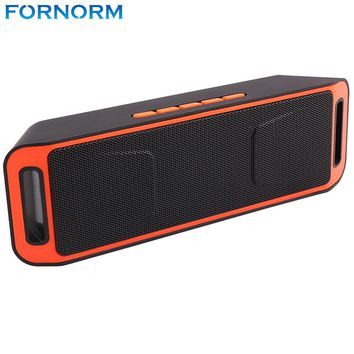 Fornorm Wireless Bluetooth 4.0 Stereo Subwoofer Speakers TF USB FM Radio Built-in Mic Dual 3W Speaker Bass Sound