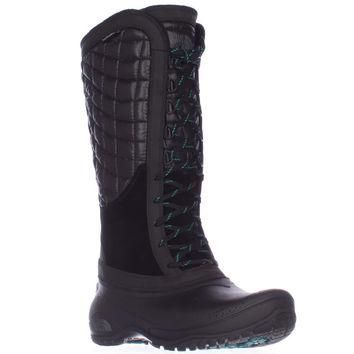 The North Face Thermoball Utility Quilted Winter Boots, TNF Black/Kokomo Green, 5 US /
