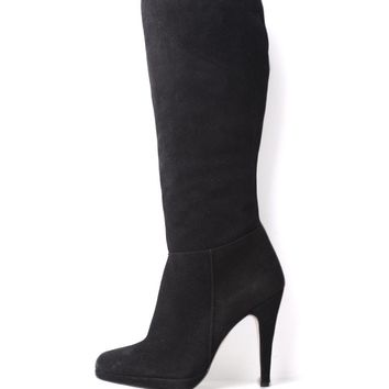 Dune Saloni Suede Stiletto Heel Knee Boots