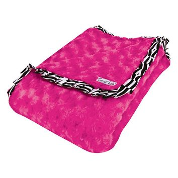 Trend Lab Zahara Ruffled Velour Receiving Blanket (Pink)