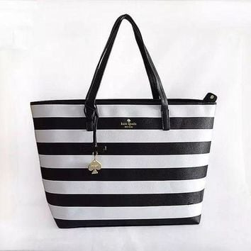 DCCKXT7 Kate Spade' Women Casual Fashion Multicolor Stripe High Capacity Water Bucket Bag Single Shoulder Bag Handbag