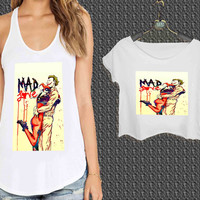 mad love joker harley quinn For Woman Tank Top , Man Tank Top / Crop Shirt, Sexy Shirt,Cropped Shirt,Crop Tshirt Women,Crop Shirt Women S, M, L, XL, 2XL**