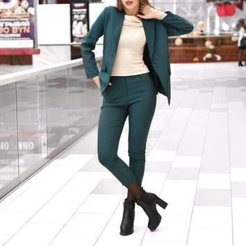 Womens Pencil Pant Suit