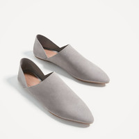 JOIN LIFE FLAT LEATHER SHOES