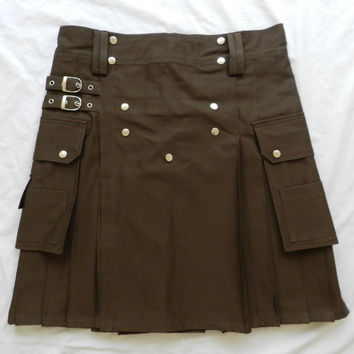 Brown Utility Kilt Custom Made