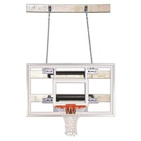 First Team Supermount 46 Pro Wall Mount Basketball Hoop 60 inch Tempered Glass