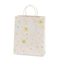 10 1/2W x 13H x 5 1/2G Large Printed savvy White bubbly Gift Bag/Case of 60