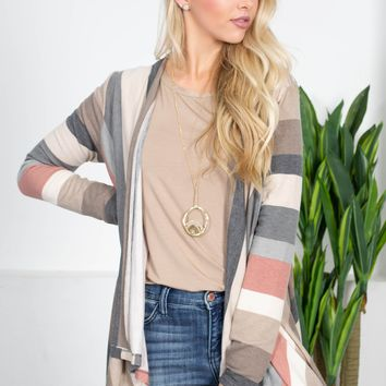 Roxy Rainbow Striped Cardigan