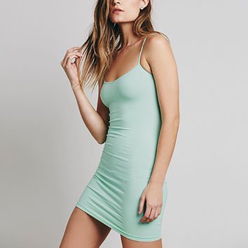 Green Spaghetti Strap Bodycon Dress