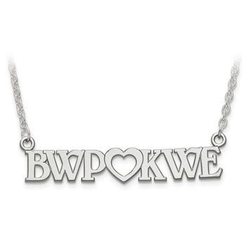 Personalized Sterling Silver Couple's Monogram Initials Heart Plate Necklace