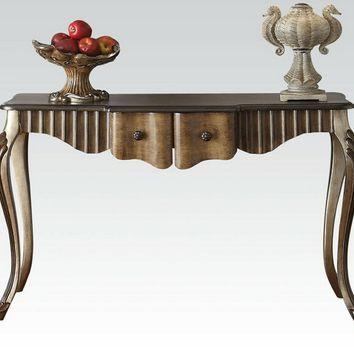 Bayley collection bronze and taupe finish wood console entry table