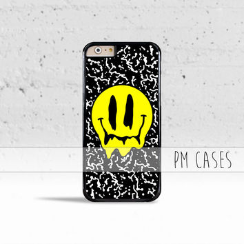 Melting Smiley Face Case Cover for Apple iPhone 4 4s 5 5s 5c 6 6s SE Plus & iPod Touch