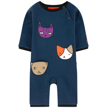 Baby Navy 'Cats' Bodysuit (Unisex)