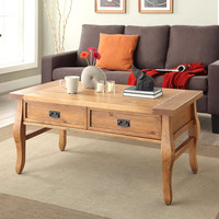 Linon Santa Fe Coffee Table Antique Finish