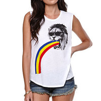 Riot Society Lion Barf Muscle Tee at PacSun.com