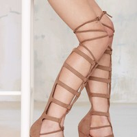 Nasty Gal Lace Me Up Knee-High Heel