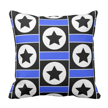 Funky Square Star Throw Pillow / Cushion