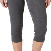 Reebok Women's Heather Jersey Jogger Capris