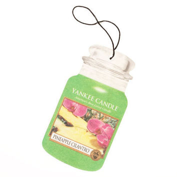 Pineapple Cilantro Scent Paper Car Jar Hanging Air Freshener by Yankee Candle