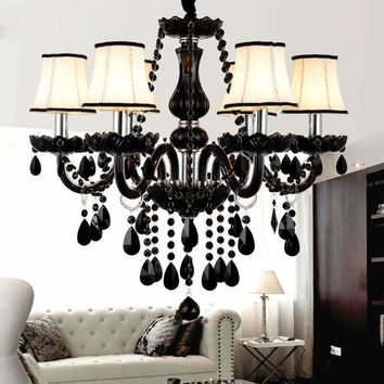 Modern LED Crystal Chandelier Lighting For Living Room Kitchen lustre de cristal teto Crystal Pendant Hanging Ceiling Fixtures