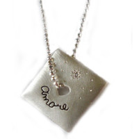 Pablo Valencia - 'Unconditional Love' Sterling Silver Engraved Necklace