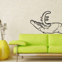 Wall Decals Money Cash Currency Euro Decal Vinyl Sticker Home Decor Bedroom Interior Window Decals Living Room Art Murals Chu1326
