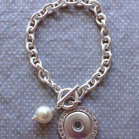 Snap on Toggle Braclet