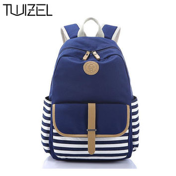 School Bags for Teenagers Canvas Printing Backpack Quality Women Backpack School Backpack Mochila Feminina  HQB1606