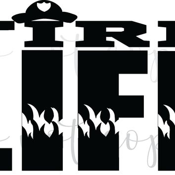 Fire Life Vinyl Graphic Decal