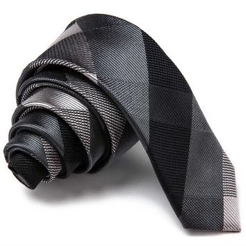 TIES 100% Silk 5cm Skinny Men Ties Fashion Casual Designer Brand Hip Hop Slim Neckties