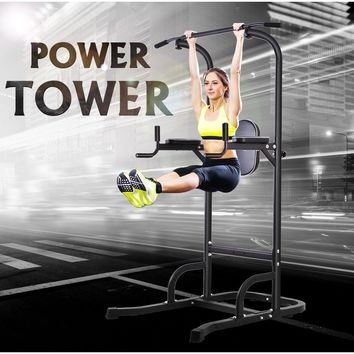 Sentaile OneTwoFit Multi-Function Power Tower Adjustable Height Home Fitness Workout Dip Station Pull up Bar Push Up OT061