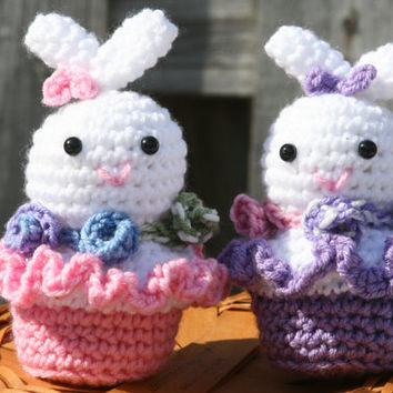 Easter bunny toys, Easter basket fillers, Spring decor, bunny decorations.