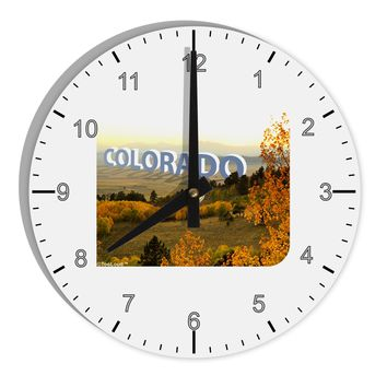 "Colorado Postcard Gentle Sunrise 8"" Round Wall Clock with Numbers by TooLoud"