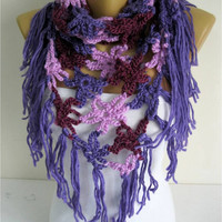 NEW-Crochet shawl scarf,-winter Neck Warmer,women scarves, long cozy scarf shawl-Fashion accessories- gift for her-scarves