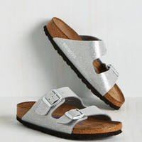 Strappy Camper Sandal in Silver Stardust - Narrow