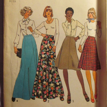 Sale Uncut 1970's Simplicity Sewing Pattern, 7308! Size 18 & 20 Waist 32-34 medium/Large/Women's/Misses/Long Ankle Length Skirts/Flare Skirt