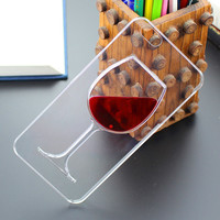 Apple iPhone Red Wine Transparent Phone Case for 5 5s 6s 6 Plus
