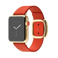 Apple Watch Edition 38mm 18-Karat Yellow Gold Case with Bright Red Modern Buckle - Small
