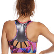 RACER STITCH SPORTS BRA - ABSTRACT PAINT
