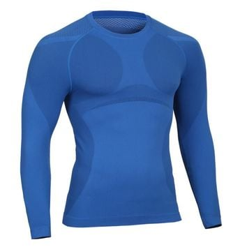 2016 autumn winter Men long sleeve Breathable quick dry thermal underwear Breathable quick dry undershirts shaper High-Elastic