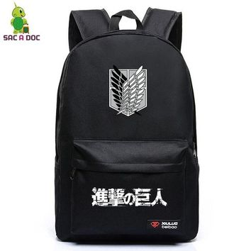 Anime Backpack School kawaii cute Attack on Titan Backpack for Teenagers Eren Scoutine Legion Cosplay Backpack Boys Girls School Laptop Bags Travel Rucksack AT_60_4