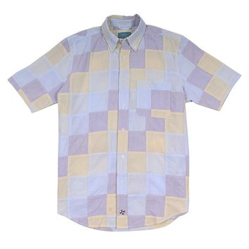 Chase Short Sleeve Patch Seersucker Shirt by Castaway Clothing - FINAL SALE