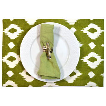 Vintage Saguaro Cactus Napkin Ring Cactus Napkin Ring Cactus Napkin Holder Cactus Decor Cactus Party Decor