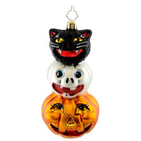 Christopher Radko Spooky Sidekicks Halloween Glass Ornament