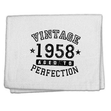"60th Birthday Vintage Birth Year 1958 11""x18"" Dish Fingertip Towel by TooLoud"