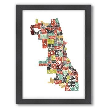 Americanflat Joe Brewton Chicago Typography Framed Wall Art